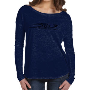 MTI Logo - Ladies' Flowy Long-Sleeve T-Shirt with 2x1 Sleeves Thumbnail