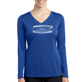 MTI Champion Logo- - Ladies Long Sleeve PosiCharge ® Competitor™ V Neck Tee Thumbnail
