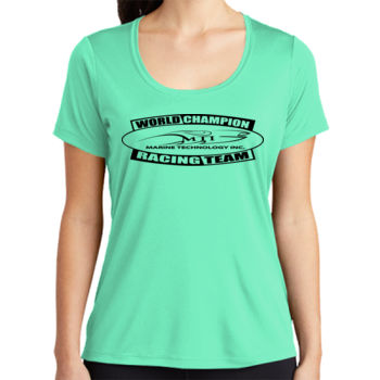 MTI Champion Logo - ® Ladies Posi UV ™ Pro Scoop Neck Tee Thumbnail